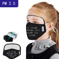 Designer Face Masks Eye Shield Válvula adulto máscara capa puro algodão fino protetora integrada com respirador