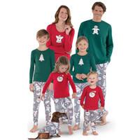 Famiglia Pigiama Pigiama Natale Babbo stampa pupazzo mamma figlia pigiameria papà figlio Pigiama corrispondenza Natale in famiglia pigiama