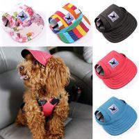 كلب الملابس الصيف الحيوانات الأليفة قبعة كاب في الكلاب قبعات البيسبول قماش صغير القط الشمس الملحقات الأزياء المشي الحيوانات الأليفة المنتجات S حجم 8 اللون