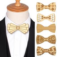 الأصلي خشبية القوس التعادل الخشب الرقبة التعادل للرجال أزياء منحوتة الزهور ربطة بدلة زفاف غرافاتا اكسسوارات الرجال الرقبة العلاقات هدية