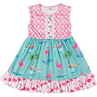 2019 New Fashion Girls Dresses Children Sleeveless Pink and ...