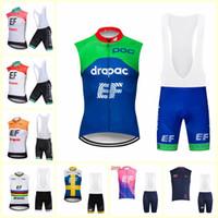 EF Eğitim Ilk takım Bisiklet Kolsuz forması Yelek önlüğü kısa setleri Yeni Bisiklet Giyim Hızlı Kuru Giyilebilir Nefes U71913