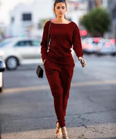 Trajes de mujeres 2021 2 unids Mujeres Conjuntos Trajes de manga larga Sudaderas con capucha + Pantalones largos Traje deportivo de invierno Jogging Running Sportswear