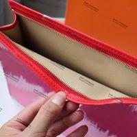 Designer Tie Toiletry Pouch Dye Sac cosmétiques de luxe femmes Pastel Livré avec boîte Designer Tie Sacs Dye Mode à vendre