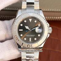Verkaufe ew beste Uhren ym cal.3135 Autoamtische Bewegung Herrenuhr Sapphire Spiegel Grau Zifferblatt Edelstahl Armband Gents Armbanduhren Ro11D