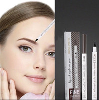 Retail 4 Forks Eyebrow Pen Waterproof Fork Tip Eyebrow Tatto...