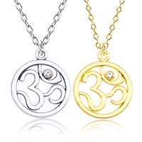 Trendy Yoga Om Necklace For Women Alloy Gold Silver Yoga Nec...