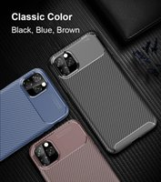Carbon Fiber Cover Shockproof Phone Case for iphone 13 12 11Pro max XS XR 8 7 6S Plus SE2