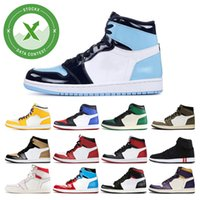New Stock X Mens basketball shoes 1s TURBO GREEN twist Obsid...
