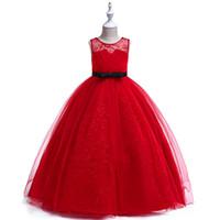 Muchachas jóvenes grandes simples bastante rojo gris hueco arco de la correa del cordón bordado boda del partido graduación fregar trapear vestido maxi