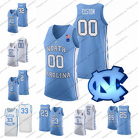 Maglia da basket personalizzata 2019 North Carolina Tar Heels # 32 Luke Maye 13 Cameron Johnson 5 Nassir Little 2 Coby White UNC S-3XL