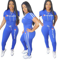 ca493a01d6f Wholesale girls t strings online - Champions Women Summer Tracksuit Hooded T  Shirt String Pants Leggings