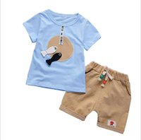 24 Styles New Summer Korean Baby Boys Girls Clothes Sets Cot...