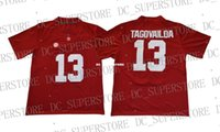custom Tua Tagovailoa jerse Alabama Crimson Tide #13 Red Col...