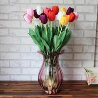 الاصطناعي الزنبق الزهور 8 ألوان وهمية توليب 63CM همية الحرير واحدة ريال اللمس الزهور لحفل زفاف يرتكز الديكور YSY317-L