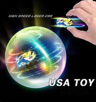 Elektrische Graffiti-Laser-Wagen-Kid-Spielzeug, High-Speed-Rennsport-Stunt-Auto, 360 ° -Frin, zwei Gangschaltung, bunte Lichter, Junge Weihnachtsgeschenk, 2-2