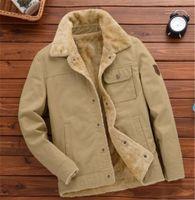 Adicionar Velvet Jacket Casual Mens lapela pescoço casacos soltos Inverno Epaulet Casacos Moda roupas de negócios dos homens de cor sólida