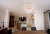전통적인 수제 불어 유리 샹들리에 램프 현대 크리스탈 핸드 샹들리에 침실 장식 무라노 천장 조명