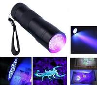 9 LED Torcia UV Ultravioletta Torcia Ultravioletta Invisibile Inchiostro Indicatore Marcatura Luce Torcia Lampada UV DLH071