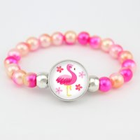 Flamingos Beads Bracelets Unicorn Mermaid Fashion Jewelry Wo...