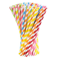 Canudo de papel Chevron padrões listrados das bolinhas Estrelas 200 cores mistas beber Papel de palha palhas de papel colorido para o favor de partido