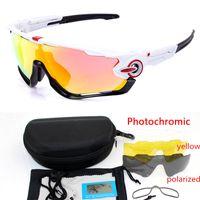 Jawbreaker Photochromic 4lens Outdoor Sports Gebirgsfahrrad-Sonnenbrille UV400 Männer Gafas ciclismo MTB Radsportbrille Motorrad Brillen