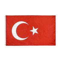 Shpping libre en Banderas de las Naciones de la 3x5FT 90x150cm Colgando poliéster TUR TR Turquía indicador de la bandera para la decoración de interior al aire libre