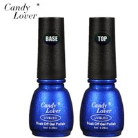Art Nail Candy Lover Hot Sale 8ml 1pcs Base and 1pcsTop Coat...