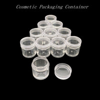 10g Limpar Vazio Recipiente de Embalagens de Cosméticos Cosméticos De Plástico Transparente Sub-garrafa Creme Claro Pote Beleza Ferramentas HHA203