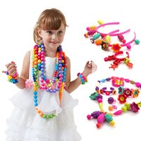 f6edef407 New Arrival. 350pcs DIY Bricks Toys Candy Sugar Jewelry Puzzle Toys  Handmade Plastic Educational Pop Beaded Assembled Blocks for Kids Girl
