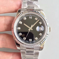 2020 мужчин мужские часы сапфировые кристаллические часы синий черный белый автоматический механический 41 мм алмазный циферблат просто дата наручные часы из нержавеющей полосы