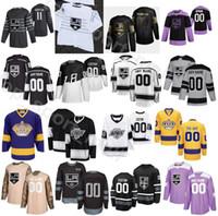 2020 جميع النجوم La King Jerseys Los Angeles Ice Hockey Vintage 8 Drew Doughty 11 Anze Kopitar 32 Jonathan Quick 77 Jeff Carter