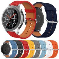 Cinturino cinturino in vera pelle per orologio Samsung Galaxy 46mm Smart Watch sostituzione cinturino classico fibbia cinturino cinturino 22mm