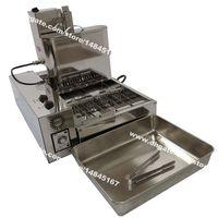 Ücretsiz Kargo 4pcs / Satır Ağır Paslanmaz Çelik 110v 220v Elektrik Otomatik Mini Donut Donut Makinesi Makinası Fritöz