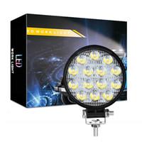 Luz de trabalho LED - Barra de luz LED de inundação 42W para tractor Offroad 4WD Caminhão ATV UTV SUV Lâmpada de Condução Daytime Luz