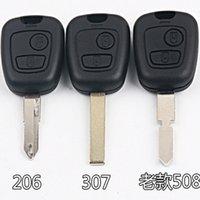 для Peugeot 107 206 106 207 306 307 406 407 Key Shell 2 Кнопка NE73 / VA2 / HU83 лезвие Замена автомобиля дистанционного крышки случая