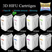 2020 НОВЫЕ Продать 20500+ Shots 3D Hifu лица для тела Дополнительные 8 Картриджи с 1-11 Линии Hifu Картриджи для подъема кожи машина