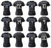 멕시코 여성 Palacios Jersey 2019 2020 레이디 축구 Romero Robles Santiago Espinosa Nieto 축구 셔츠 키트 유니폼 여성 홈 블랙