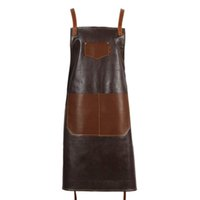 Leather PU Cook Apron Barista Bartender Chef Hairdressing Ap...