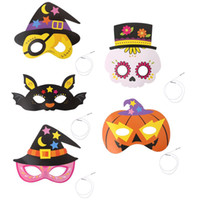 Cartoon Halloween Mask Masquerade Pirate Skull Crown Pumpkin...