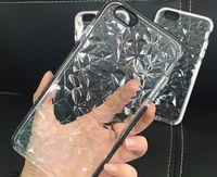 아이폰 6 7 8 플러스 XS XR의 11max 삼성 S8 9 플러스 주 9에 대한 충격 방지 투명 소프트 TPU 케이스 3D 다이아몬드 패턴 전화 커버