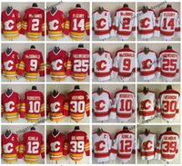Calgary Flames 12 Jarome Iginla Doug Gilmour Joe Nieuwendyk Al Macinnis Lanny McDonald Gary Roberts Teorenci Fleury Mike Vernon Hokey Forması