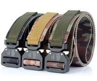Moda Homens Tactical Cintos de Nylon Cinto de Pescoço Heavy Duty Fivela De Metal Ajustável Cintos Do Exército Militar para Homens ao ar livre Quick Release Jeans cinta