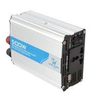 Portable 500 Watt Automatische Thermoabschaltung Auto Wechselrichter Adapter Adapter Konvertieren DC 12 V zu AC 220 V / USB 5 V