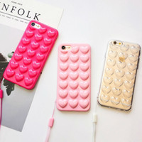 3D Love Heart Конфеты Чехол Для iPhone XS Макс XR XS X 6 6 S 7 8 Плюс С Ремешком Мягкого Кремния ТПУ Телефон Задняя Крышка Подарки
