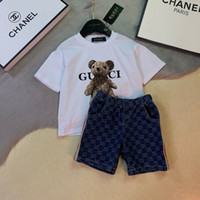 Two Piece Outfits 2019 New Pattern Kids Clothing Set Short S...