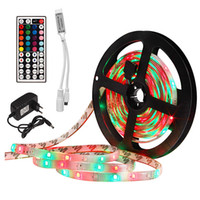 2835 5M 10M 15M RGB Led Light Strip impermeável fita Tiras Led Diodo Tape DC 12V Controlador Plug Adapter Para Casa Kitchen Party