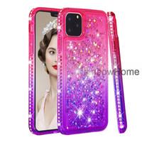 TPU caso di scintillio Quicksand Liquid Sparkle lucida del diamante di Bling casse del telefono di iPhone 11 Pro Max XS XR Samsung S10 note10 antiurto