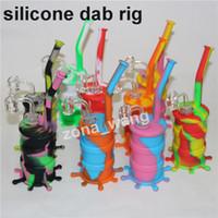 Narghilli silicio bongs tubi di acqua tubi di acqua in silicone impianti di petrolio mini bobbler bong con quarzo Banger vetro ciotola nettare collettore del nettare strumento daBer