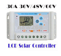 Freeshipping 30A 36V / 48V / 60V wincong sl03-48 Solarladeregler USB Li-Li-Ionen-Lithium-LiFePO4-Batterien Solarladeregler